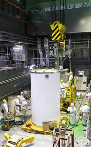 原子炉4号機核燃料キャスク