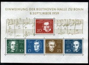 ベートーヴェンホール落成 1959年西ドイツ発行